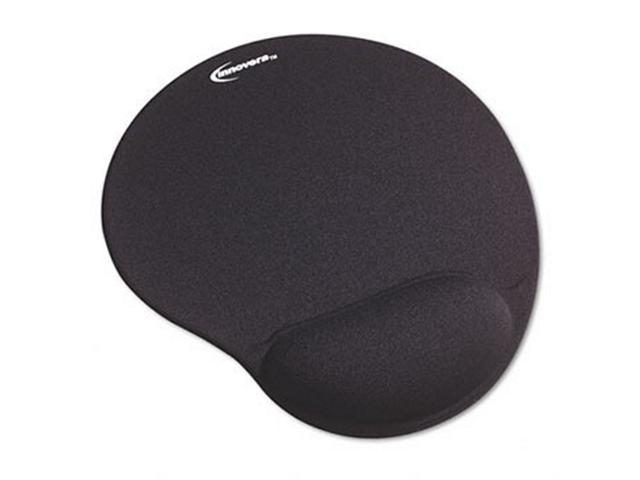 Mouse Pad w/Gel Wrist Pad  Nonskid Base  10-3/8 x 8-7/8  Black