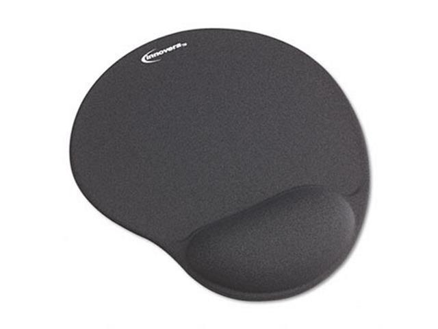 Mouse Pad w/Gel Wrist Pad Nonskid Base 10-3/8 x 8-7/8 Gray