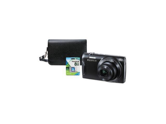 FinePix T555 Digital Camera Bundle, 12x Optical Zoom, 16 MP, Black