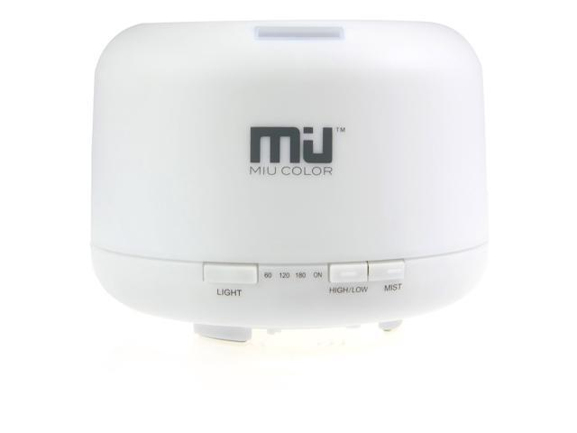 MIU COLOR 500ml Aroma Diffuser Ultrasonic Humidifier LED Color Changing Lamp Light Ionizer