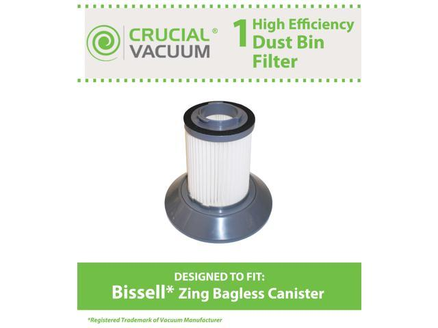 1 Bissell Dirt Bin Filter; Fits Bissell Zing Bagless Canister Vacuum; Compare to Part # 203-1532; Designed & Engineered by Crucial Vacuum