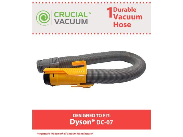 Dyson DC07 All Floors Hose Silver/Yellow # 904125-14, 904125-07, 904125-51; Designed and Engineered by Crucial Vacuum