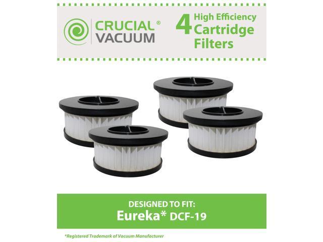 4 Eureka DCF19 Allergen Cartridge Filter Designed to Fit Eureka Boss Whirlwind Lite 450 Series Upright Vacuums; Compare to Eureka (DCF-19) DCF19 ...