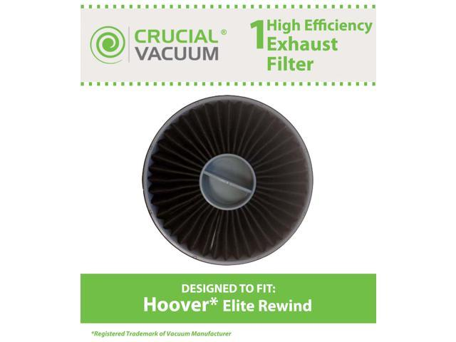 1 Hoover Elite Rewind Allergen Exhaust Filter Designed To Fit Hoover Vacuum Elite Rewind, Fusion Uprights; Compare To Hoover Exhaust Filter Part# ...
