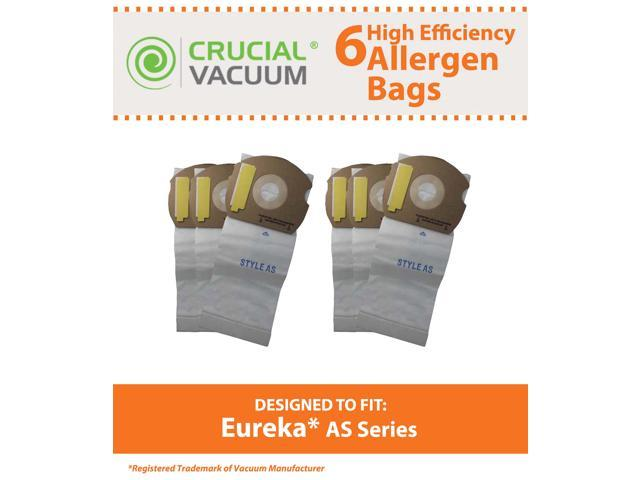 6 Eureka AS Micro Allergen Vacuum Bags Designed To Fit Eureka AS Series Upright Vacuums; Compare To Part # 66655, 68155-6, 68155, 67726; Designed ...