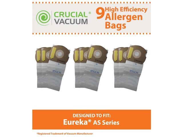 9 Eureka AS Micro Allergen Vacuum Bags Designed To Fit Eureka AS Airspeed Series Upright Vacuums; Compare To Part # 66655, 68155-6, 68155, 67726; ...