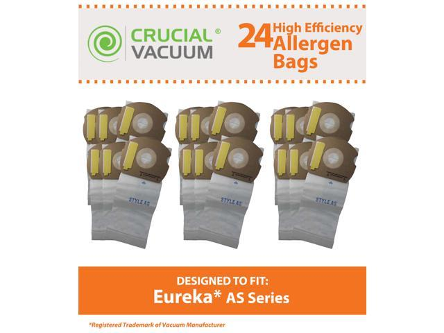 24 Eureka AS Micro Allergen Vacuum Bags Designed To Fit Eureka AS Series Upright Vacuums; Compare To Part # 66655, 68155-6, 68155, 67726; ...