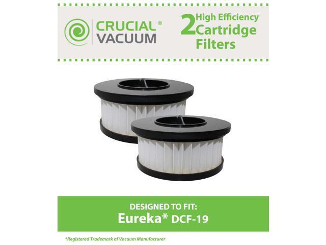 2 Eureka DCF19 Allergen Cartridge Filter Designed to Fit Eureka Boss Whirlwind Lite 450 Series Upright Vacuums; Compare to Eureka (DCF-19) DCF19 ...