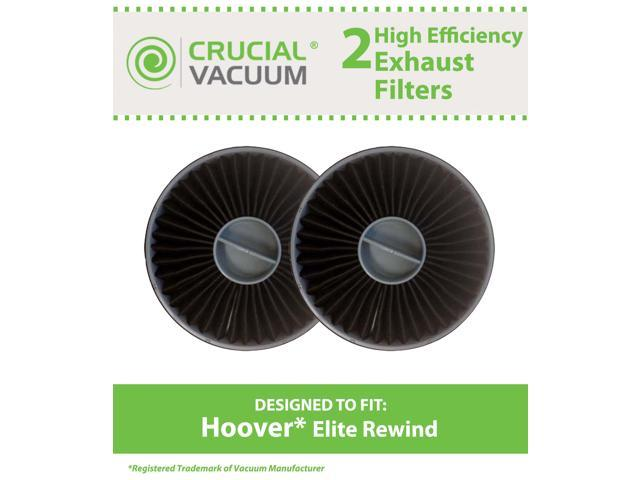 2 Hoover Elite Rewind Allergen Exhaust Filters Designed To Fit Hoover Vacuum Elite Rewind, Fusion Uprights; Compare To Hoover Exhaust Filter ...