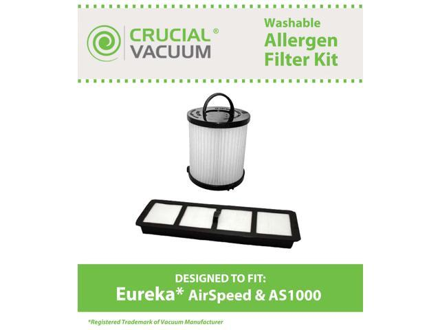 Eureka Airspeed Filter Kit Designed To Fit Eureka Airspeed AS1000 Series Upright Vacuums; Compare To DCF21 Part # 67821, 68931, 68931A, 69963 & ...
