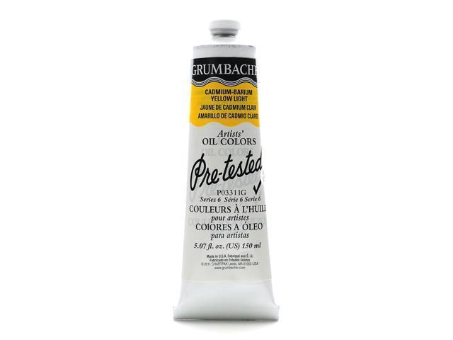 Grumbacher Pre-Tested Artists Oil Colors cadmium barium yellow light P033 5.07 oz.