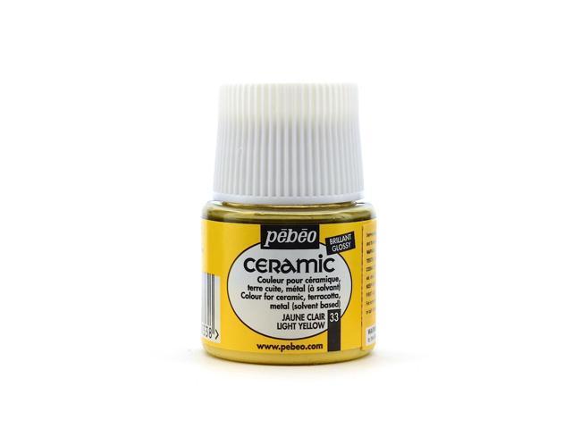 Pebeo Ceramic Air Dry China Paint light yellow 45 ml [Pack of 3]