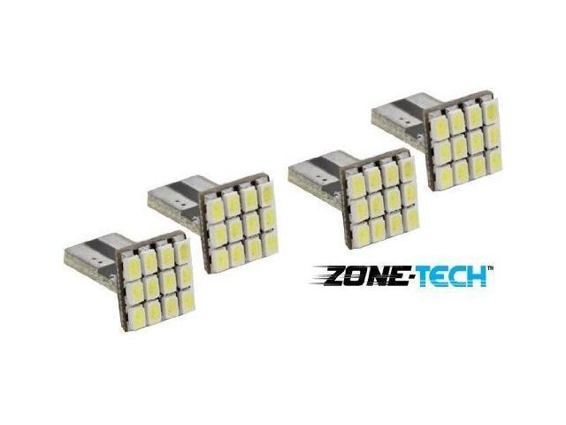 4pcs 12-SMD T15 12V LED Replacement Light Bulbs 921 912 906 - White