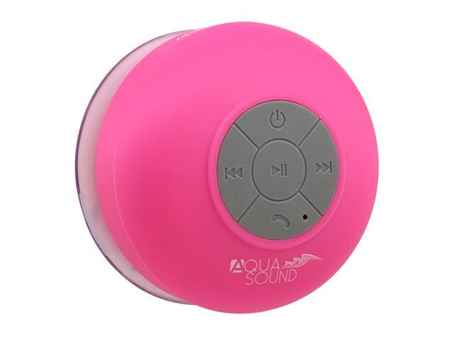 Aduro AquaSound WSP20 Waterproof Shower Bluetooth Portable Speaker (Pink)
