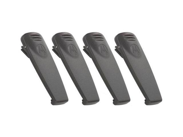 Motorola RLN6307 Spring Action Belt Clip For RDX Radio Batteries 4 Pack New