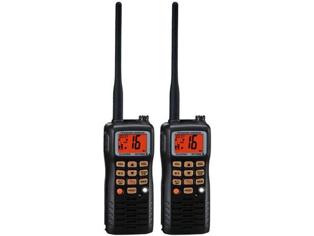 Standard Horizon HX851 (2 Pack) 6W Floating Handheld VHF Radio