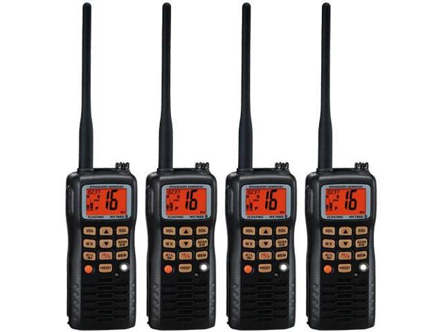 Standard Horizon HX851 (4 Pack) 6W Floating Handheld VHF Radio