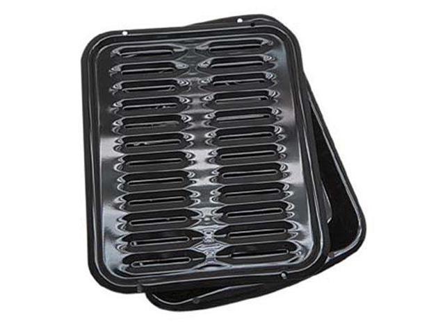 Range Kleen BP102XB Range Kleen Porcelain Broiler Pan with Porcelain Grill