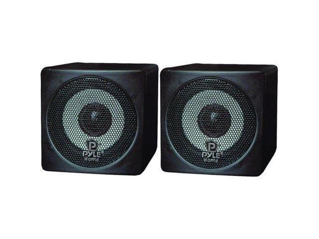 Pyle Audio PYLPCB3BKB Pyle Home PCB3BK 3-Inch 100-Watt Mini Cube Bookshelf Speakers - Pair (Black)