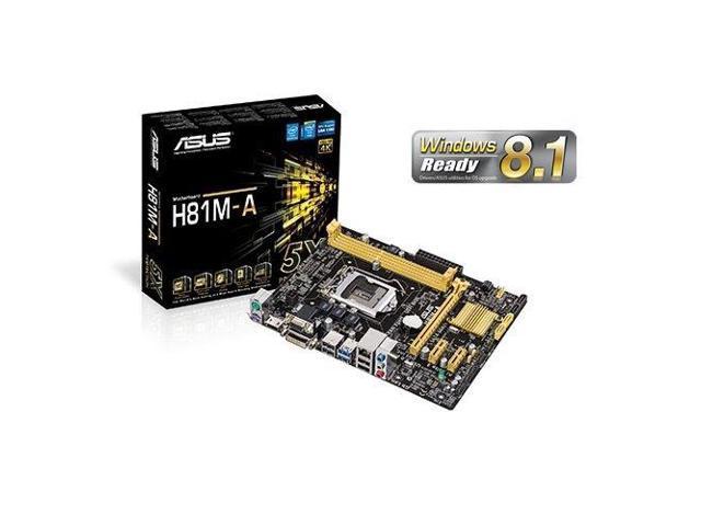 Asus H81M-AM ASUS H81M-A ATX DDR3 1333 LGA 1150 Motherboards
