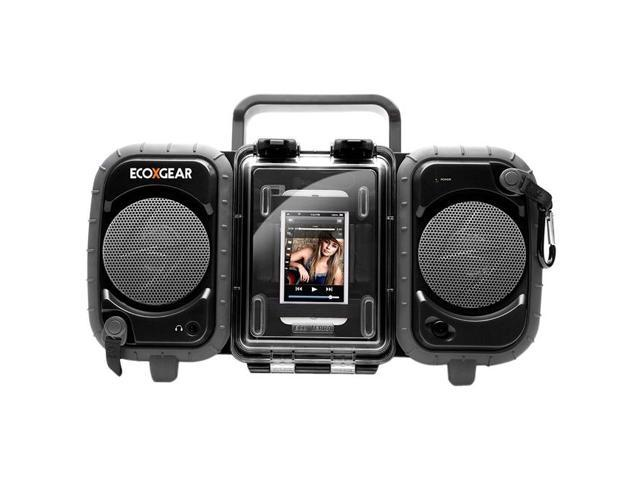 Grace Digital GDIAQ2SI61M Black Rugged And Waterproof Stereo Speaker System