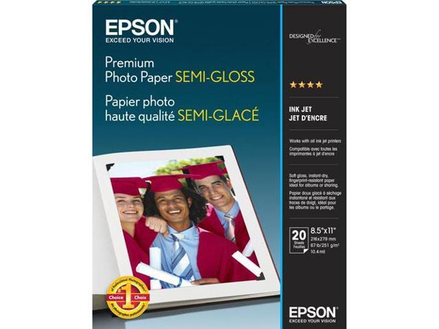 Epson S041331M White Semi-gloss Photographic Papers 8.50