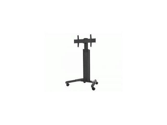 INFOCUS QM6980B ADJUSTABLE MOBILE CART/MONITOR STAND BUILT IN CABLE MANAGAMENT BLACK