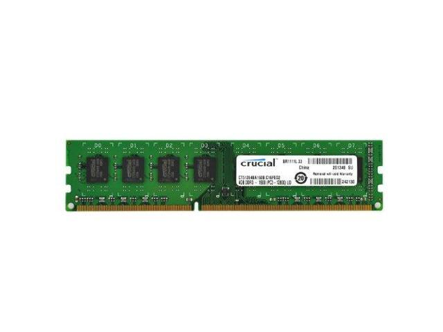 Crucial NA4271M Crucial 4GB Single DDR3 1600 MT/s PC3-12800 CL11 Unbuffered UDIMM 240-Pin Desktop Memory Module
