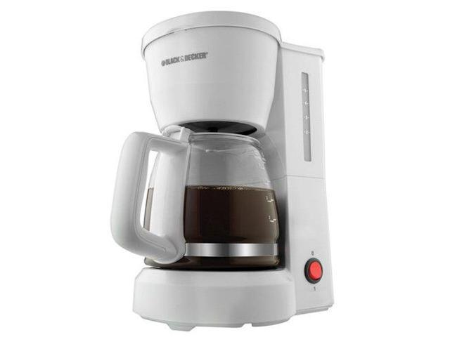 Black & Decker DCM600Ww Black & Decker DCM600W 5-Cup Drip Coffeemaker with Glass Carafe, White