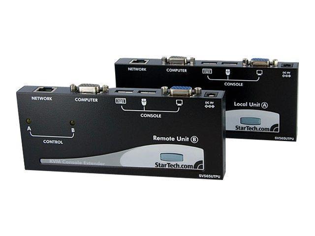 StarTech SV565UTPUM StarTech.com USB VGA KVM Console Extender over CAT5 UTP (500 Feet) (SV565UTPU)
