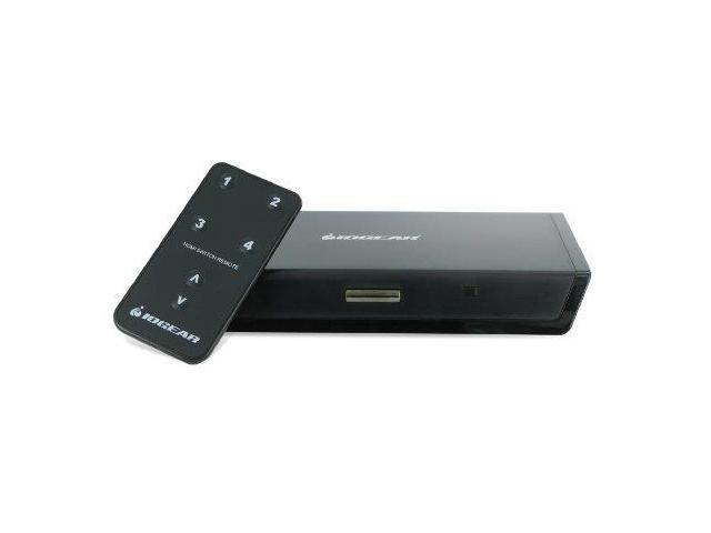 IOGear GHDSW4B IOGEAR 4-Port HDMI Switcher with Remote GHDSW4 (Black)