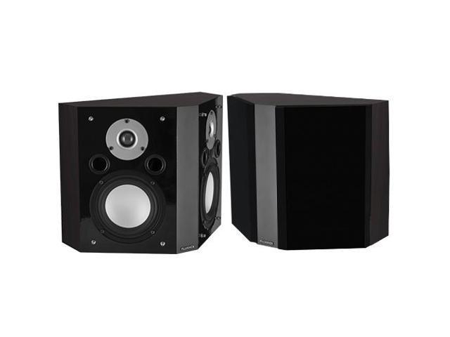Fluance XLBP-DW Wide Dispersion Bipolar Surround Sound Speakers for Home Theater-Dark Walnut