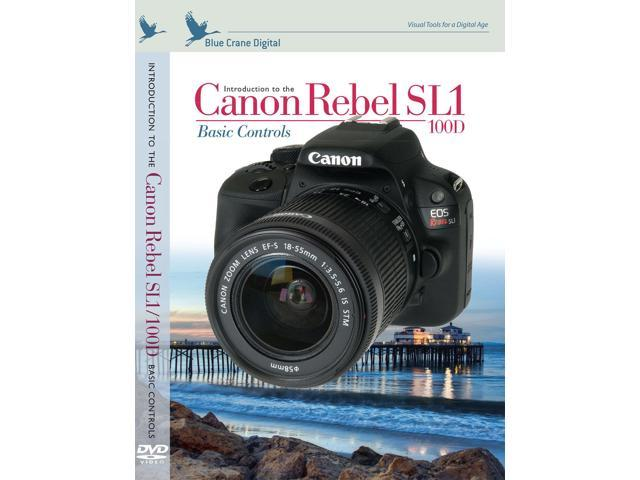 Blue Crane Digital Canon Rebel SL1 Basic Controls DVD Digital Camera Video Guide