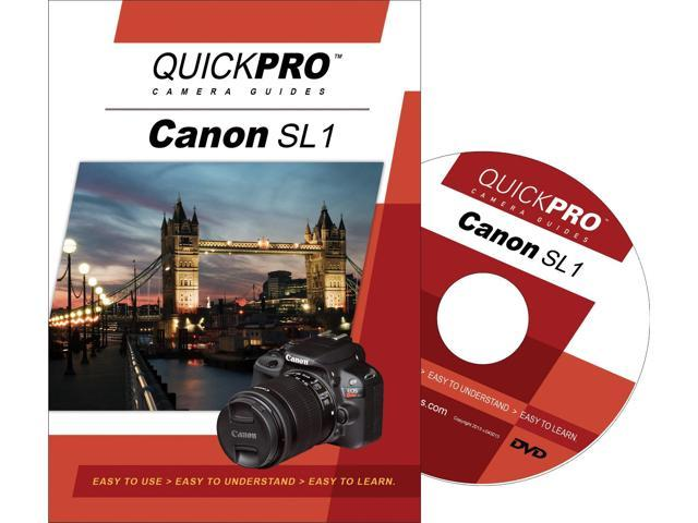 QuickPro Canon SL1 Instructional DVD Digital Camera Video Guide