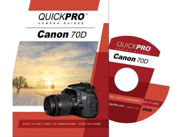 QuickPro Canon 70D Basics Instructional DVD Digital Camera Video Guide