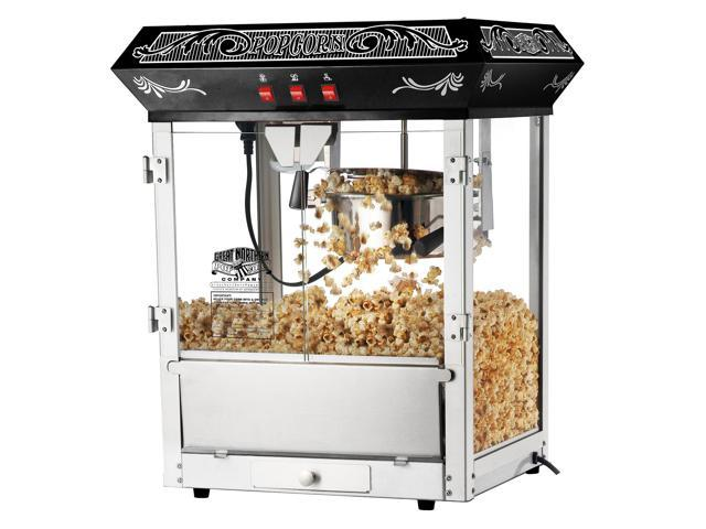 Great Northern Popcorn Black Old Time Popcorn Popper Machine 8 Ounce
