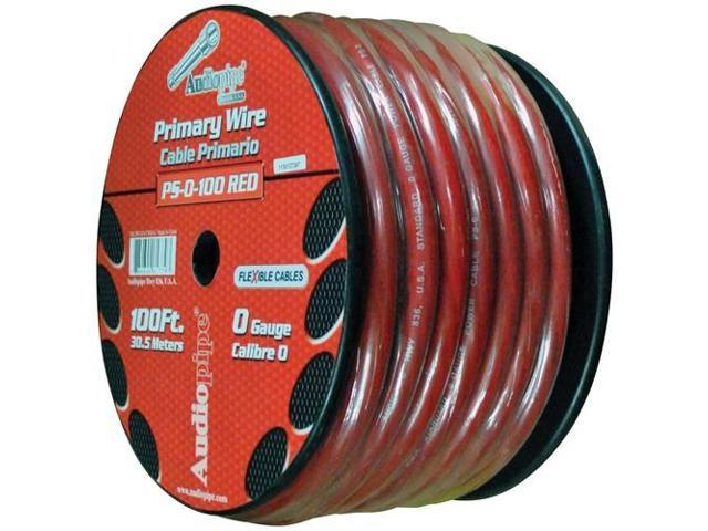 Audiopipe PS0100RD Flexible Power Cable 0 Ga. 100 Ft. Red