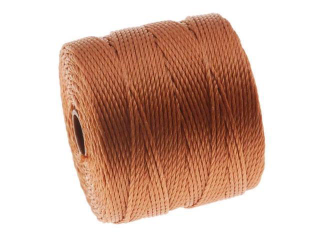 BeadSmith Super-Lon Cord - Size #18 Twisted Nylon - Copper / 77 Yard Spool