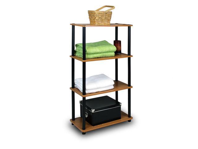 Furinno Ultra 13156 3-Tier Toolless Multipurpose Storage Shelf, Light Cherry/Black