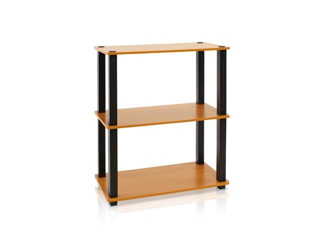Furinno Ultra 13155(S) 3-Tier Toolless Multipurpose Storage Shelf, Light Cherry/Black