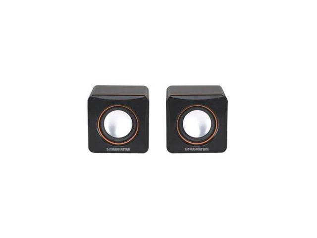 Manhattan 161435 2.0 Speaker System - 6 W RMS - Black - NF6212