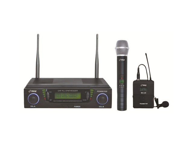 Pyle Pro UHF Adjustable Frequency Wireless Microphone System