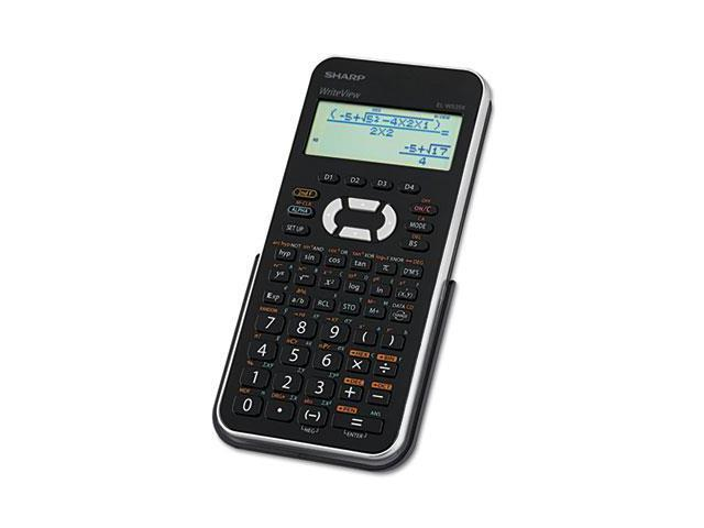 El-W535Xbsl Scientific Calculator, 16-Digit X 4-Line Lcd, Black/Silver