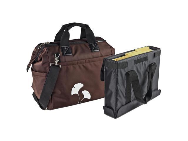 Overnight Tote Bag, 1,680-Denier Ballistic Nylon, 9 X 16-1/2 X 14, Brown