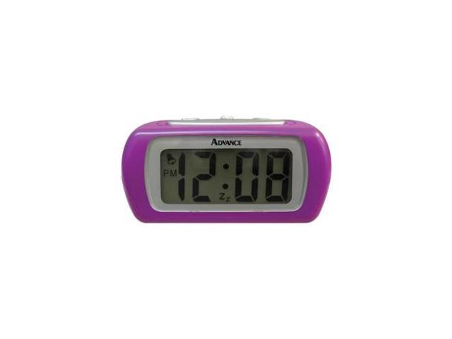 Advance Purple LCD Alarm Clock