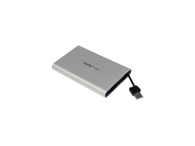 StarTech 2.5in USB SATA External Hard Drive Enclosure w/ Integrated USB cable