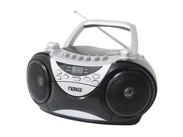 Naxa Npb241 Portable Cd Player Am/fm Radio & Cassette Player/recorder