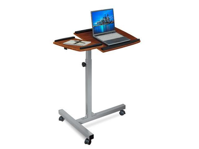 Merax Height Adjustable Laptop, iPad Computer Desk/Stand, Walnut
