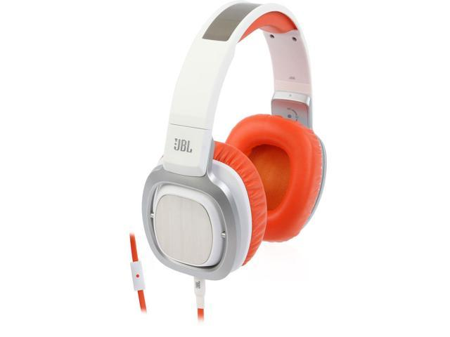 JBL J88a Premium Over-Ear Headphones with Mic - White/Orange