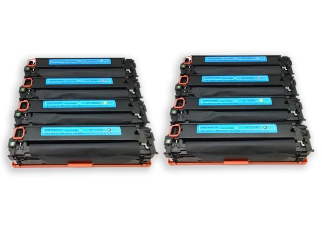 8PK [ CB540A , CB541A , CB542A , CB543A ] HP 125A 540A 541A 542A 543A Compatible HP Toner cartridge SET Color Laserjet CM1312 CM1312nfi ...